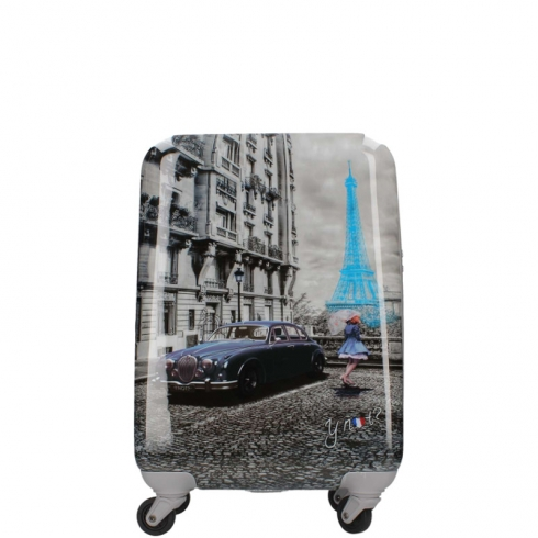 Valigia Trolley M Dark Blue Gun Paris Blue Rain K 1002
