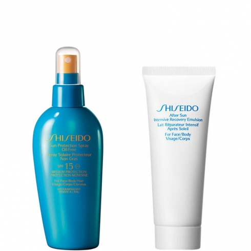 Sun Protection Spray Oil-Free Face-Body-Hair SPF 15 + After Sun Intensive Recovery Emulsion