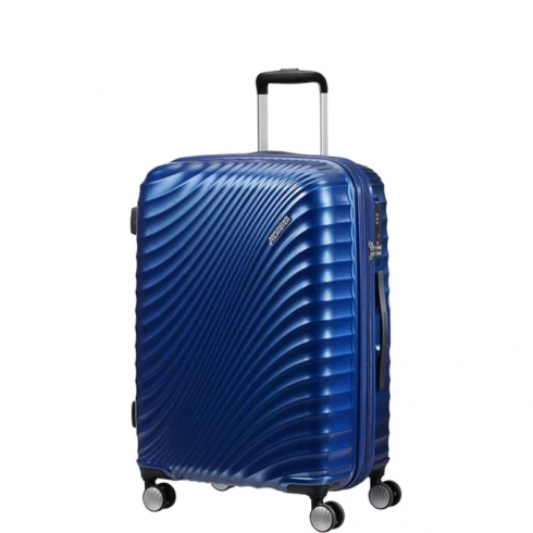 Valigia Trolley JetGlam Spinner Exp L Metallic Blue