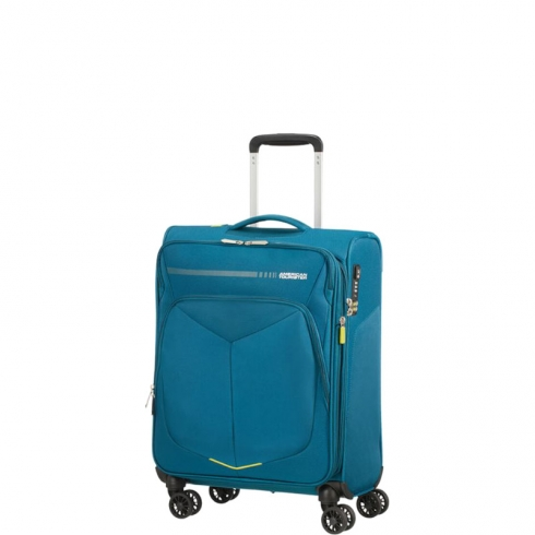 Valigia Trolley SummerFunk Spinner Exp S Teal