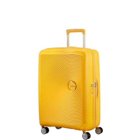 Valigia Trolley Soundbox Spinner Exp M Golden Yellow