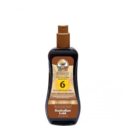 Spray Gels Sunscreen SPF 6 con effetto Bronze