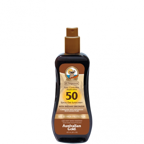 Spray Gels Sunscreen SPF 50 con effetto Bronze