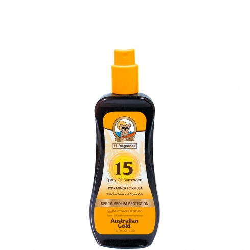 Spray Oil Sunscreen SPF 15 con Olio di Carota
