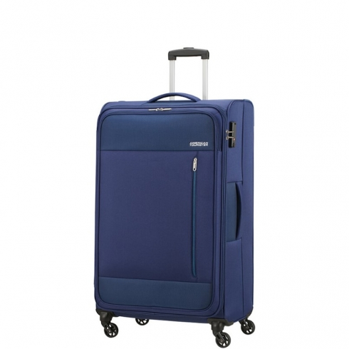 Valigia Trolley Heat Wave Spinner L Combat Navy