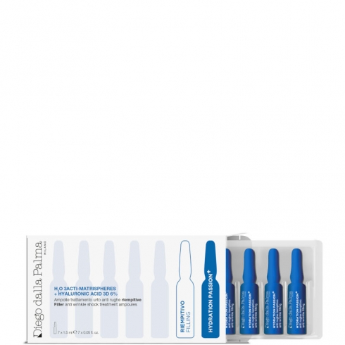 H20 3ACTI-MATRISPHERES + HYALURONIC ACID 3D 6% - Ampolle trattamento urto anti rughe riempitive
