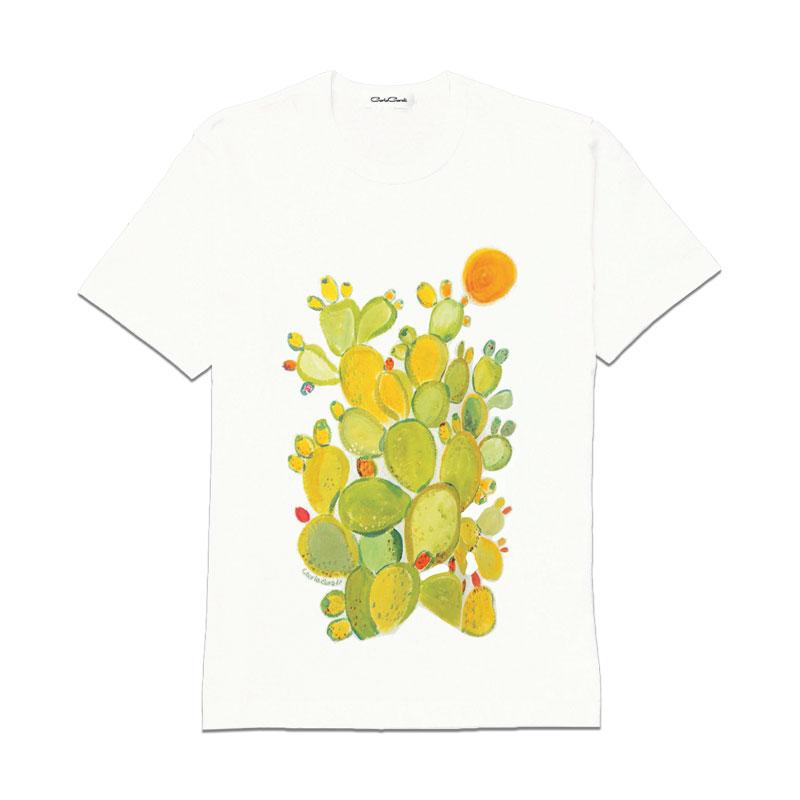 Carla Caroli T-Shirt in cotone dipinta a mano CCT03 CCT03-1 Fico Verde Taglia Bambino fino a 12 anni