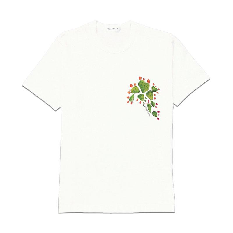 Carla Caroli T-Shirt in cotone dipinta a mano CCT10 CCT10-1 Fico Verde Taglia Bambino fino a 12 anni