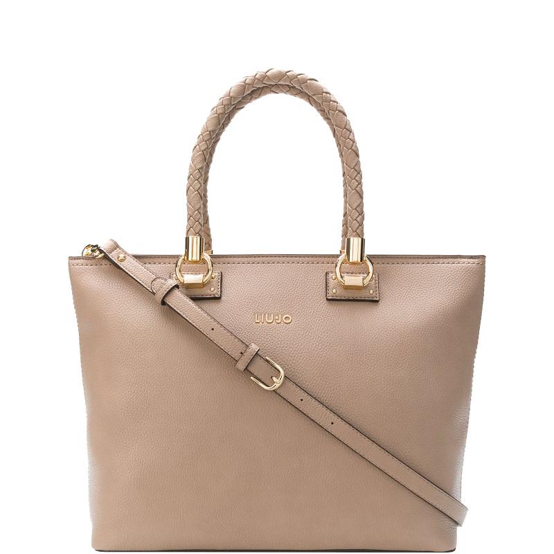 f057c0e3cb Liu jo Borsa Shopping Bag L Manhattan A68094E0011 Arenaria A68094E0011  Colore Arenaria 71316