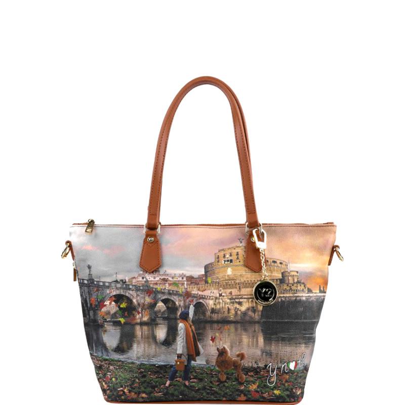 cc682eca63 Borsa Shopping Bag Zip M Tan Gold Roma Joyful Wind K 396 K