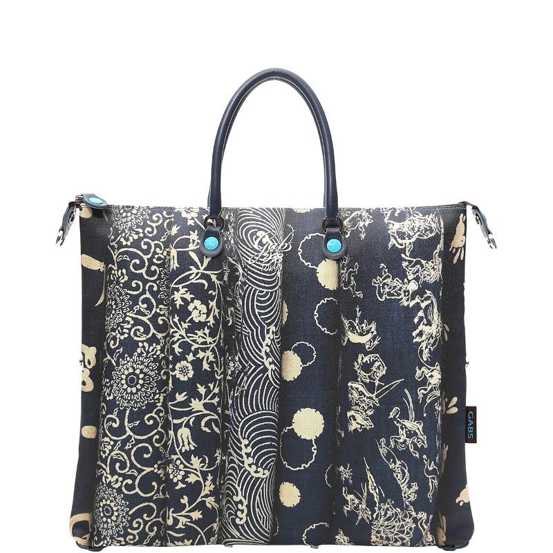 6f1917fcff Gabs Shopping Bag Piatta Trasformabile G3 L Indaco 358 Tokio colore  Multicolor