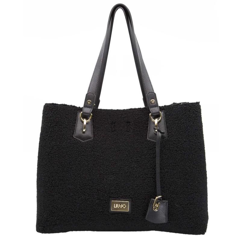 Liu jo Borsa Shopping Bag L Hawaii Sheepskint N68145E0437 Black cod. 24578 150ce6365be