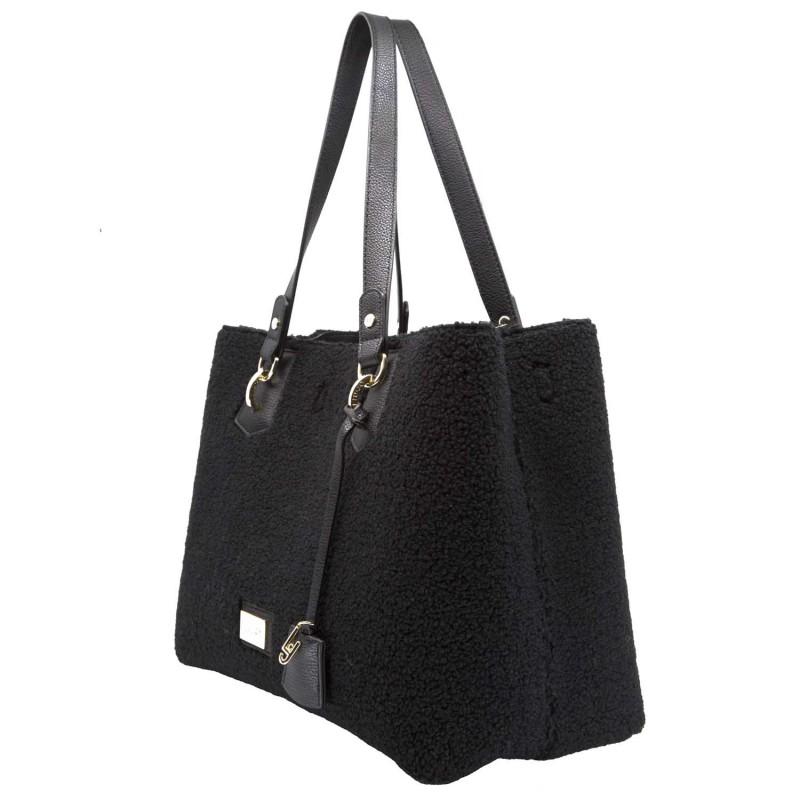 Liu jo Borsa Shopping Bag L Hawaii Sheepskint N68145E0437 Black cod ... 107c40d793f