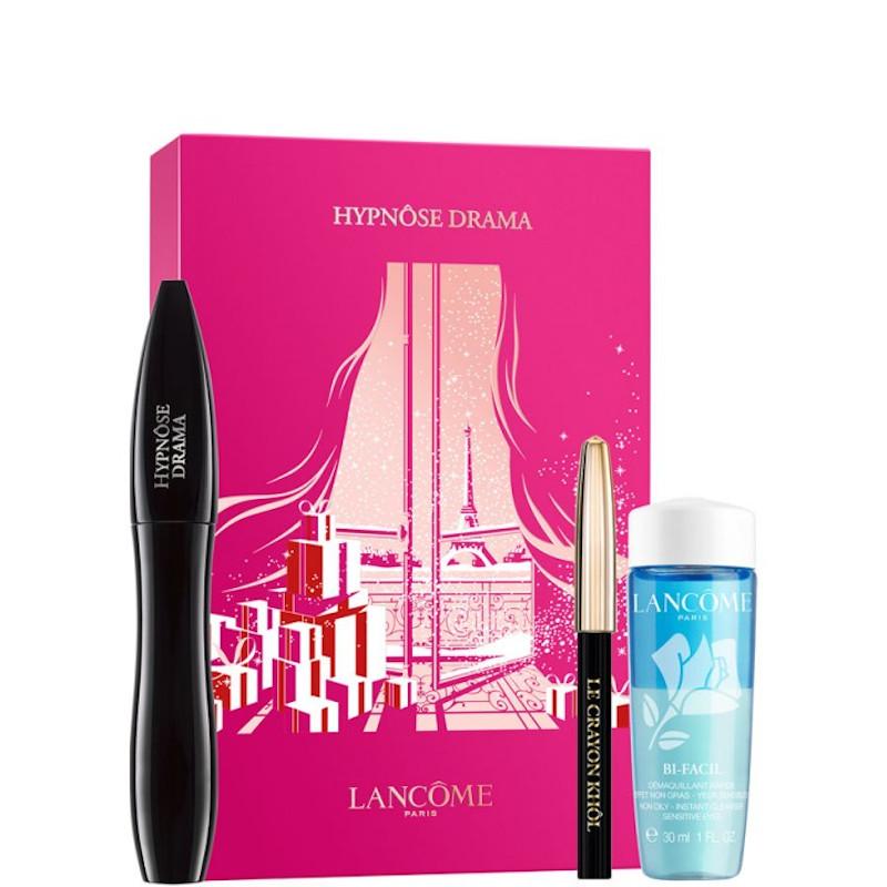 Lancome  Hypnose Drama - Mascara Volume Teatrale Istantaneo Confezione 01 Mascara Nero + Mini Crayon Khol Nero + 30 ML Bi-facil
