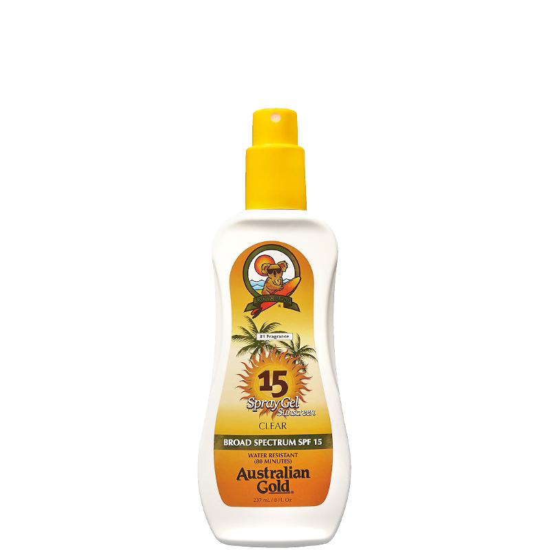 Australian Gold Spray Gels Sunscreen SPF 15 237 ML