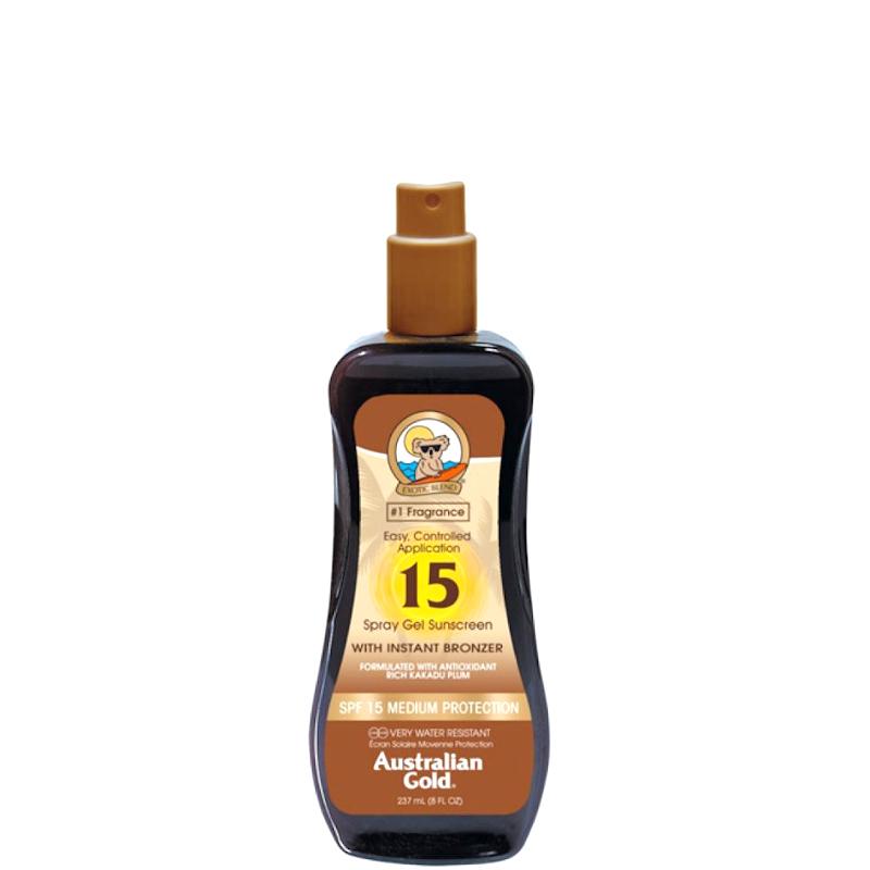 Australian Gold Spray Gels Sunscreen SPF 15 con effetto Bronze 237 ML
