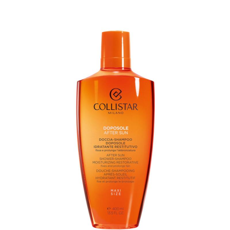 Collistar doccia shampoo doposole idratante restitutivo fissa e prolunga labbronzatura gel satinato 400 ML