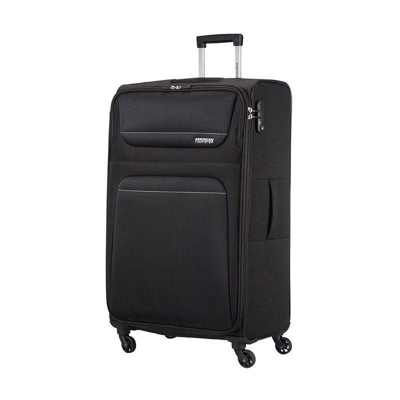 American tourister valigia trolley spring hill spinner l black 78 cm x