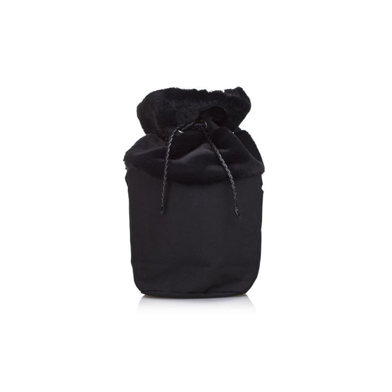 O Bag Canvas O Bag Basket Con Eco Pelliccia Nero Cod 12121
